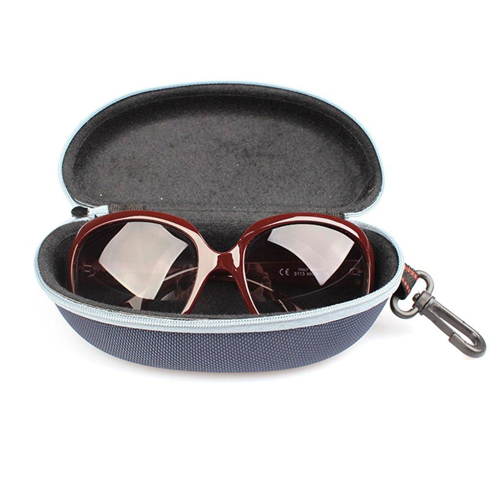 Cdet Funda para Gafas Gafas Caja Especial Caja Universal de Las Gafas de Sol Caja Colgante de la Cremallera de la Caja Blanco