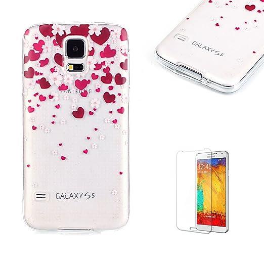 7 opinioni per Cover Per Samsung Galaxy S5 Silicone Custodia Morbida Trasparente con Disegno