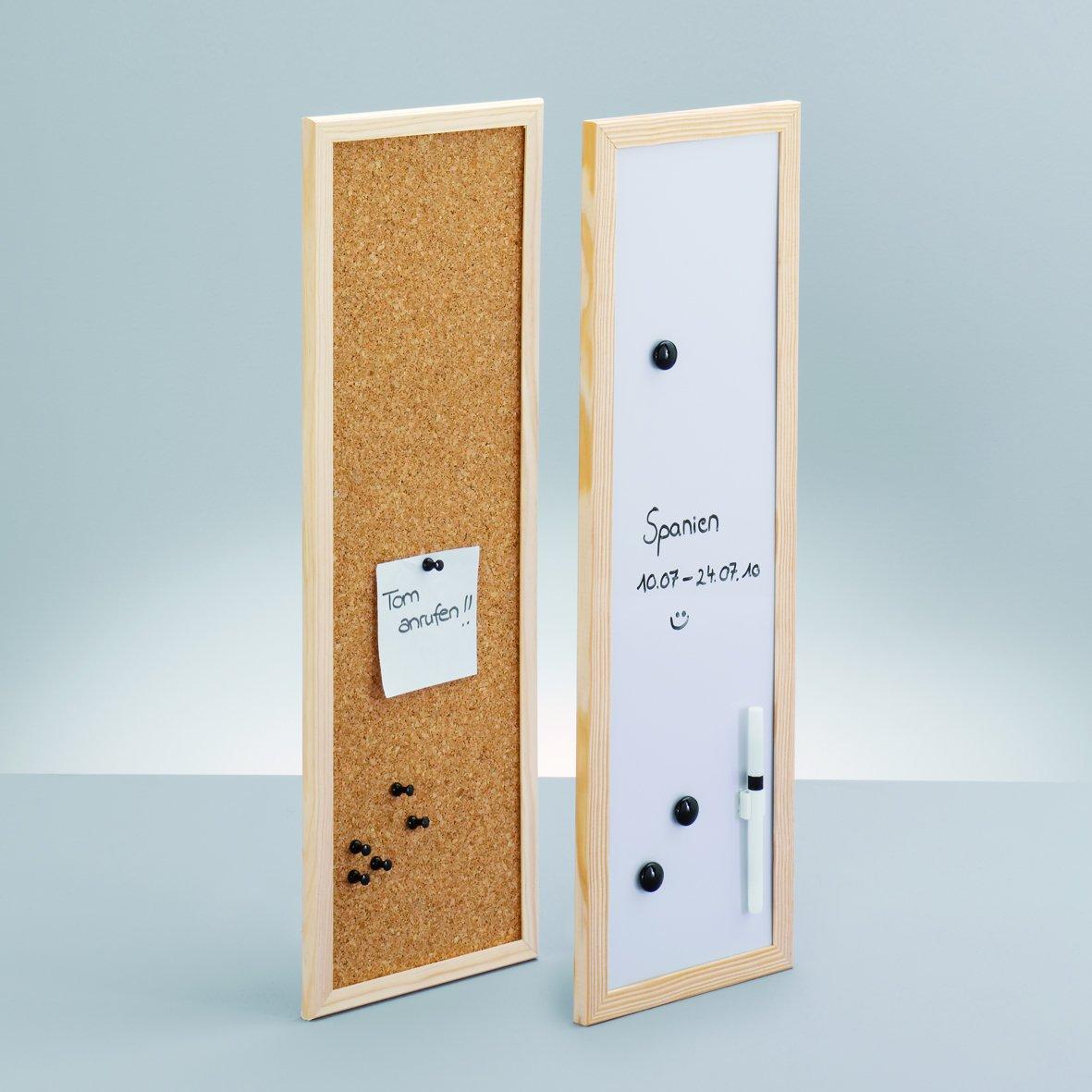 Zeller 11538 Magnet- /Schreibtafel, 40 x 60 cm, alugrau: Amazon.de ...