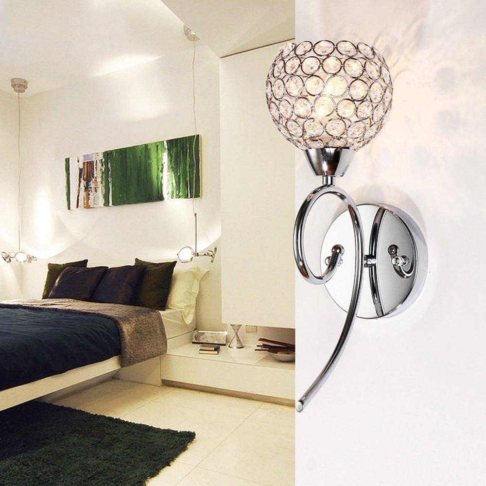 Elinkume Modern Luxury Crystal Bath/wall Sconce Lighting Fixture E14 Bulb