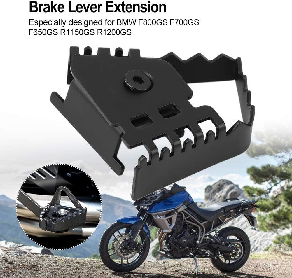Farbe : Black Motorrad Fu/ßbremshebel hinten Pedal Vergr/ö/ßern Extension Pad Extender f/ür BMW F800GS F700GS F650GS R1150GS R1200GS Galvanik Nikou Bremsverl/ängerung