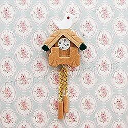 Odoria 1:12 Miniature Vintage Wall Hanging Cuckoo Clock Dollhouse Decoration Accessories
