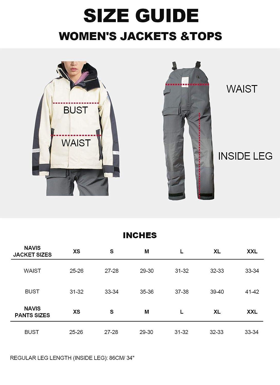 Navis Marine Waterproof Sailing Jacket and Bib Pants Fishing Foul Weather Gear Rain Suit