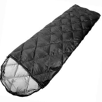 Saco De Dormir Adulto Al Aire Libre Otoño/Invierno Solo Panel Ultra Luz Caliente Pato Sacos De Dormir,Black: Amazon.es: Deportes y aire libre