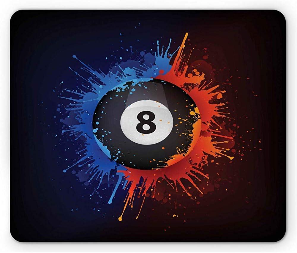 Alfombrilla de ratón de Billar, diseño Grunge de Lucky 8 Ball Design con Alfombrilla de ratón Bicolor de Salpicaduras, Multicolor: Amazon.es: Electrónica