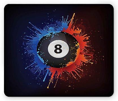 Alfombrilla de ratón de Billar, diseño Grunge de Lucky 8 Ball ...