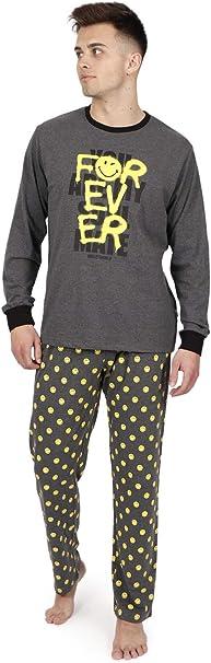 Smiley Pijama Manga Larga Camouflage para Hombre
