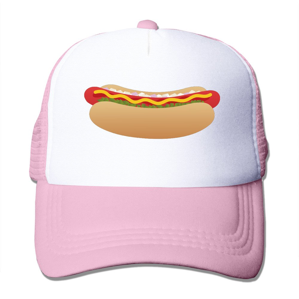 Unisex Hot Dog Sausage Design Hip Hop Mesh Hat Trucker Baseball Cap