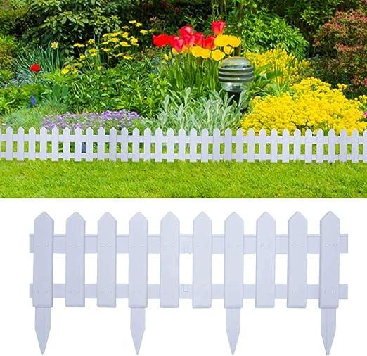 Disfruta Tus Compras con Bordes de jardín 25 Unidades PP Blanco 10 m: Amazon.es: Hogar