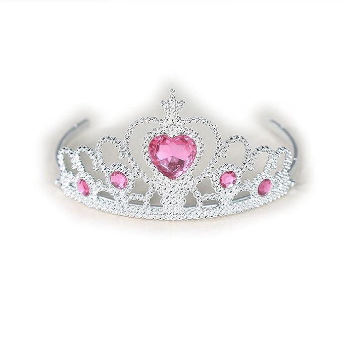 Yakadi chica diamantes de imitacion de cristal en forma de corazon de corona diadema (1