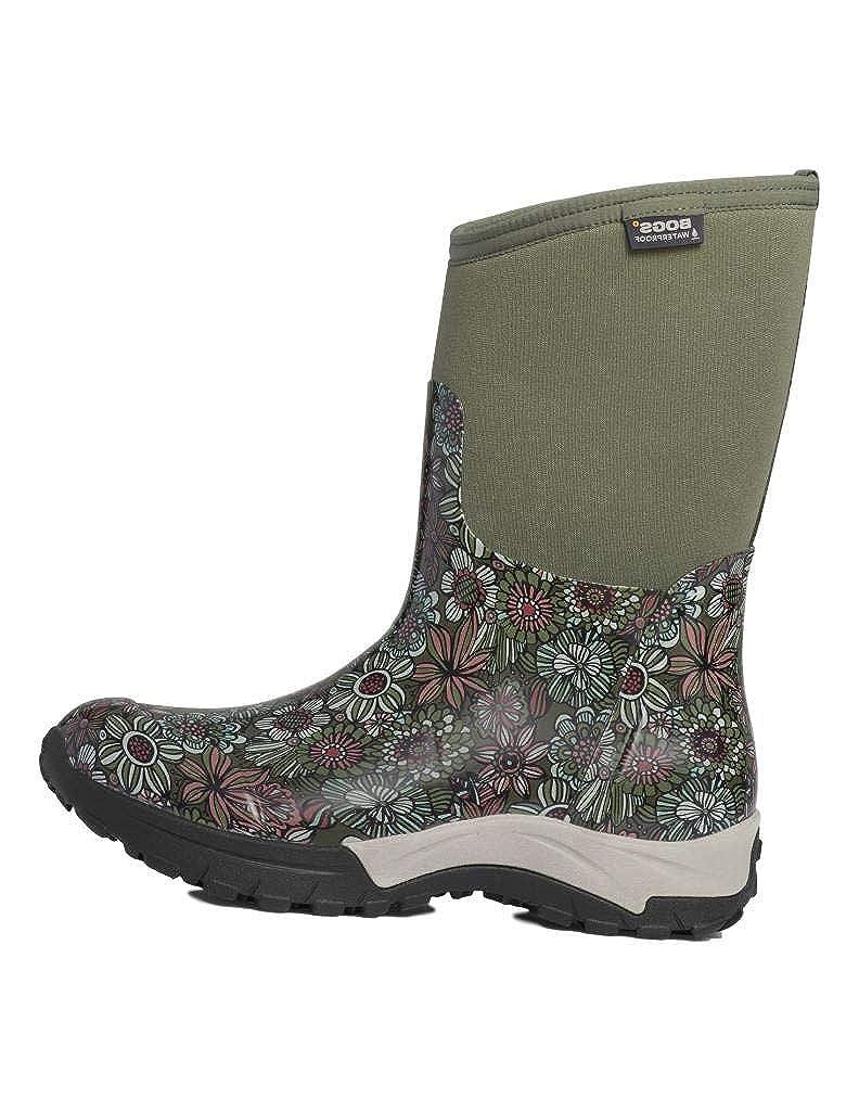BOGS Men's Daisy Bright Garden Waterproof Rain Shoe