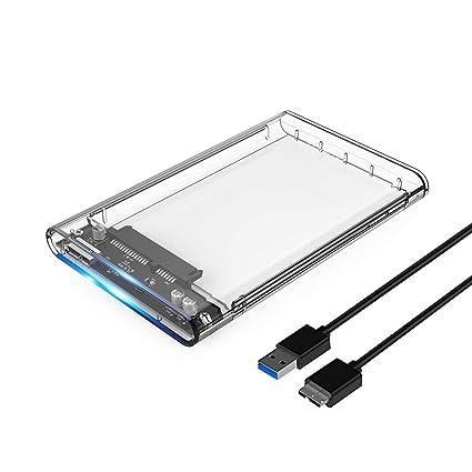 Carcasa para Disco Duro Externo SATA SSD de 2,5 Pulgadas de Alta ...
