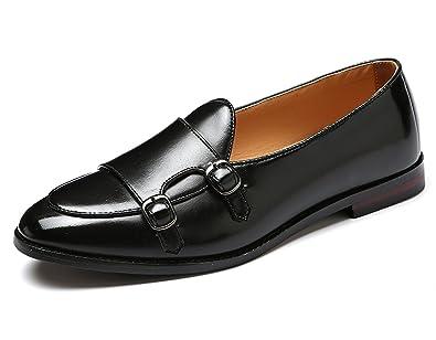 Amazon.com | Santimon Italy Luxury Monk Strap Wedding Dress Shoes ...