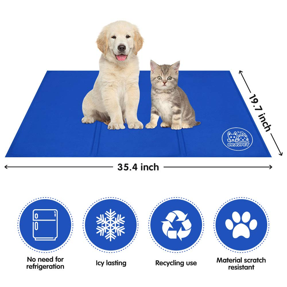 Bravpet Pet Cooling Mat Pet Self cooling pad mat bed mats Comfort for Cats and Dogs Large by Bravpet (Image #4)