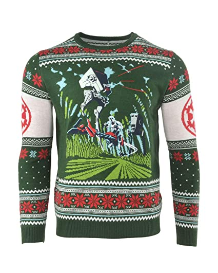 2b4b67f13bce Star Wars Christmas Jumper Ugly Sweater Battle of Endor or Men Women ...