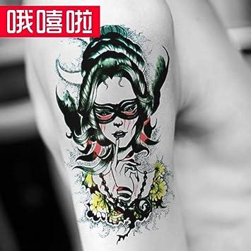 Pegatinas de tatuaje a prueba de agua del brazo de flores para ...