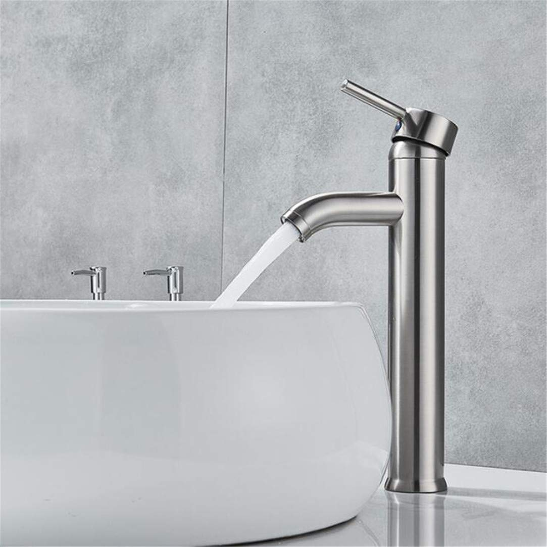 Faucet Washbasin Mixer Waterfall Bathroom Basin Sink Faucet Single Hole Bath Vessel Sink Mixer Deck Mounted Countertop Cold & Hot Water Tap