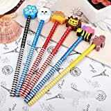 PARTEET Birthday Party Return Gifts, Pencils with Eraser for Kids - Assorted Designs (Pack of 24)