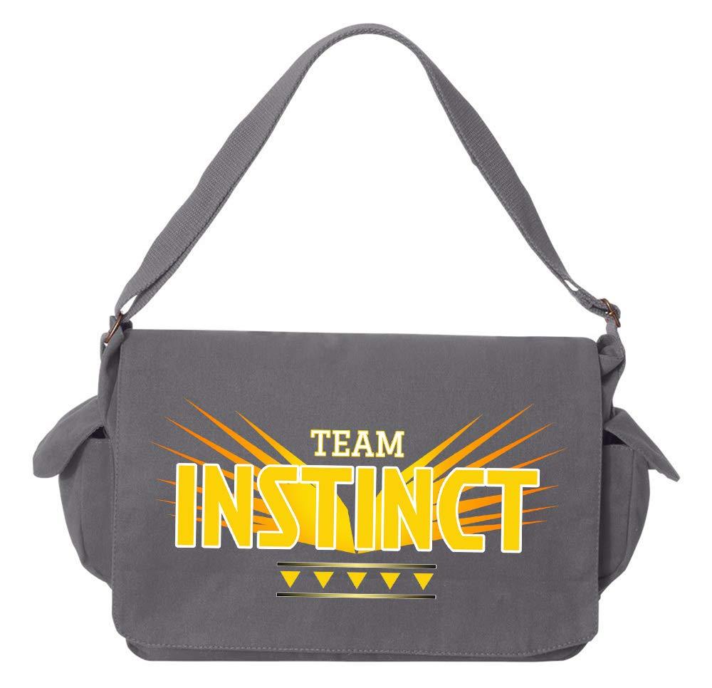 Tenacitee Team Instinct Royal Blue Brushed Canvas Messenger Bag