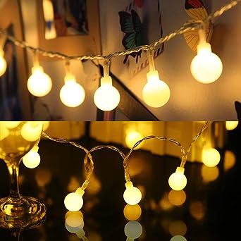 Zorara Cadena de Luces - Guirnalda Luces 10M 80 LED 8 Modos - Guirnalda Luces Pilas Decoración Interior, Jardines, Casas, Boda, Fiesta de Navidad [Clase de eficiencia energética A+++] (Blanco cálido): Amazon.es: Iluminación