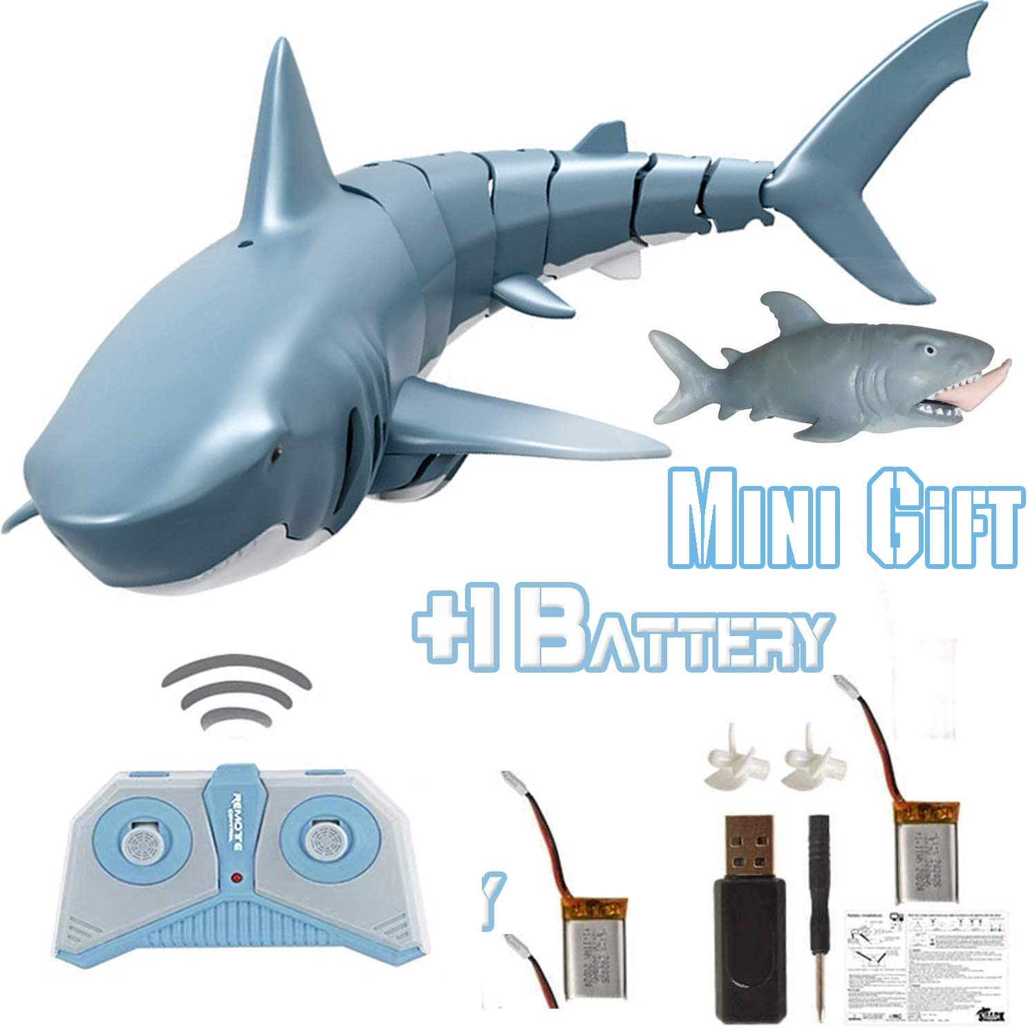 RC Shark Toys for 4 5 6 7 8 9 10+ Year Old Boys, Girls and Adults - Bath, Water Pool Toys