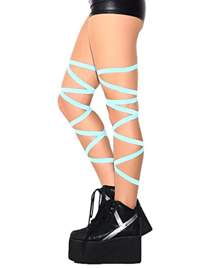 9a58366c Amazon.com: iHeartRaves Pair of Non-Slip Baby Blue Leg Wraps: Clothing