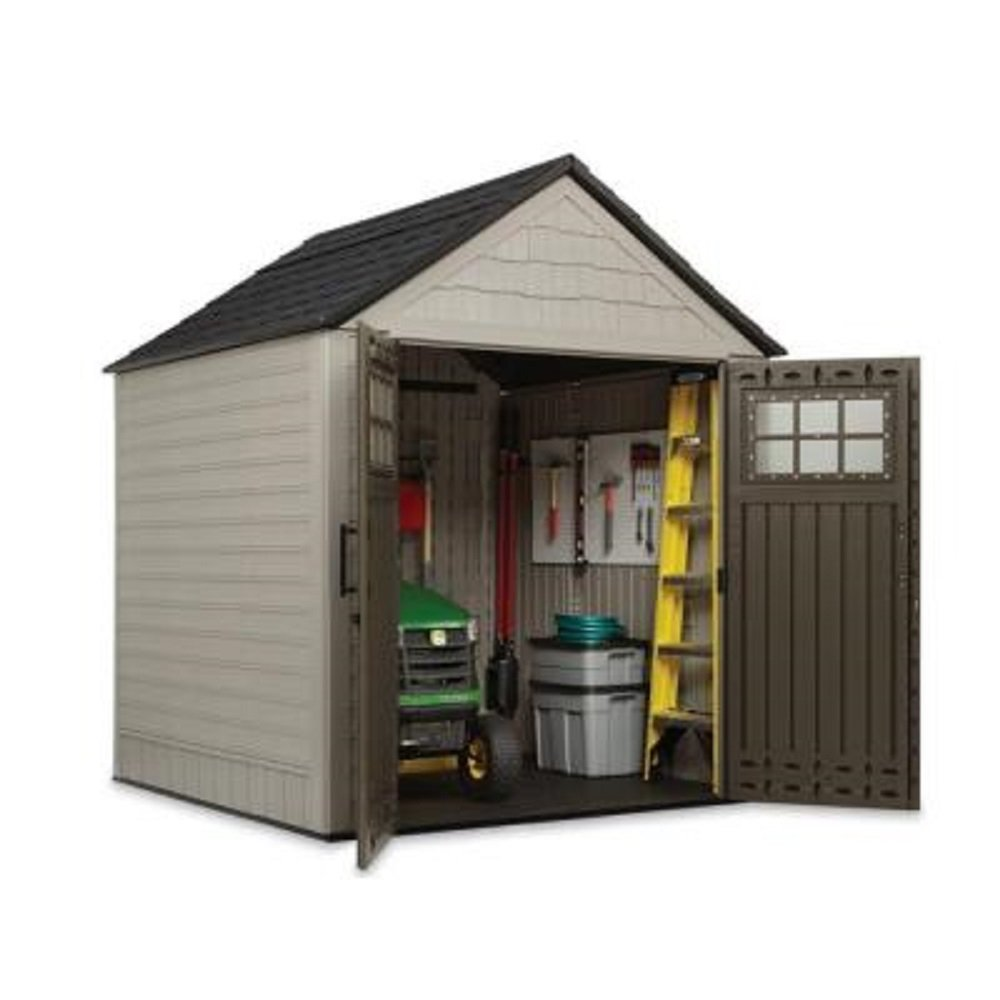 Big Max Storage Shed Great For Storing Riding Mowers Lawn Garden Equipment  ~Includes Tool U0026 Sports Rack, Utility U0026 Handle Hook : Garden U0026 Outdoor