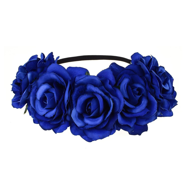 Dreamlily womens hawaiian stretch flower headband for garland party dreamlily womens hawaiian stretch flower headband for garland party bc12 blue at amazon womens clothing store izmirmasajfo Gallery