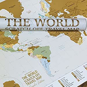 Amazon the world couples edition scratch off travel map by share facebook twitter pinterest gumiabroncs Image collections