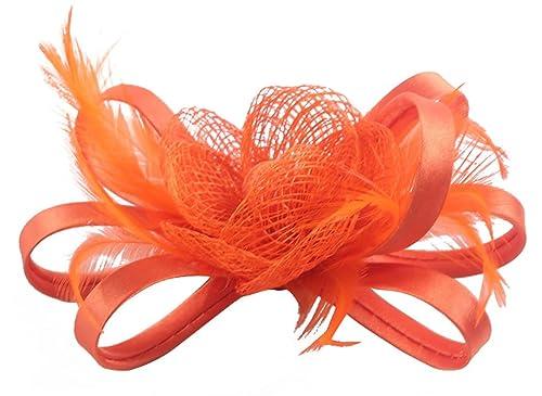 Clip Mini Sombrero de la Flor Mujer Nupcial Boda de la pluma Ramillete Broche de Pelo