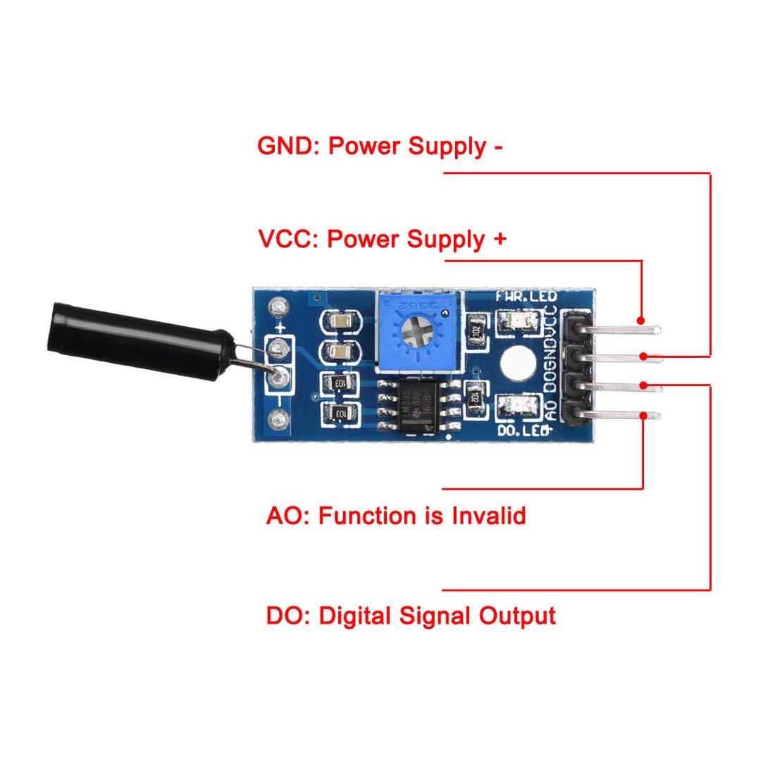sourcing map Módulo de sensor de interruptor de vibración de ...
