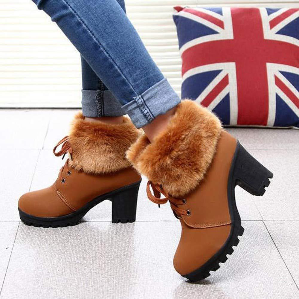 18d742897a2c9 Amazon.com :   AutumnFall  2018 Hot Fashion Women High Heel Half ...