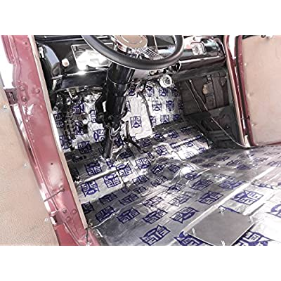 FatMat Self-Adhesive Sound Deadener Bulk Pack with Install Kit - 125 Sq Ft x 50 mil Thick: Automotive