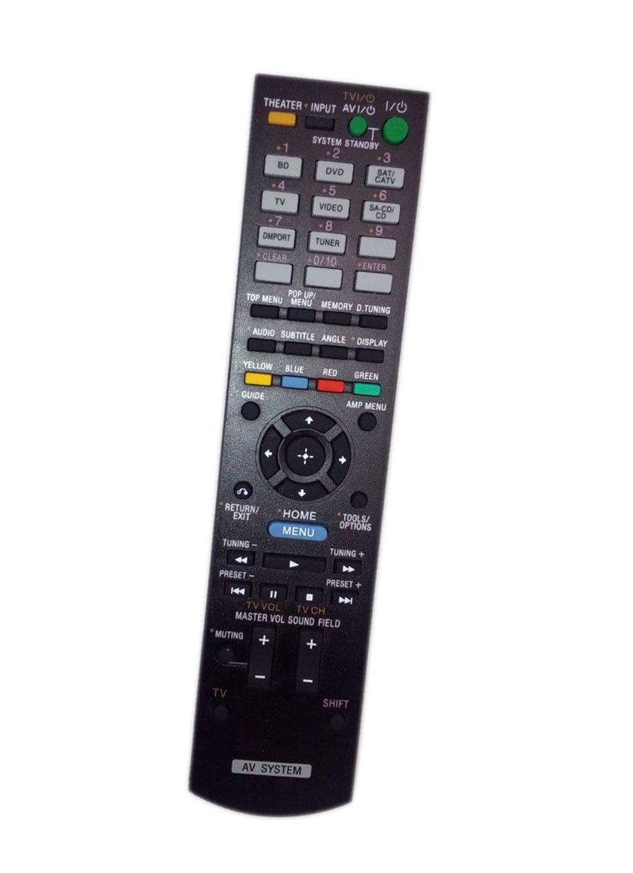 Replaced Remote Control Compatible for Sony STR-DH510 RMAAU071 148761111 STR-DH710 HTSS370HP Audio / Video AV Receiver Home Theater System by JustFine