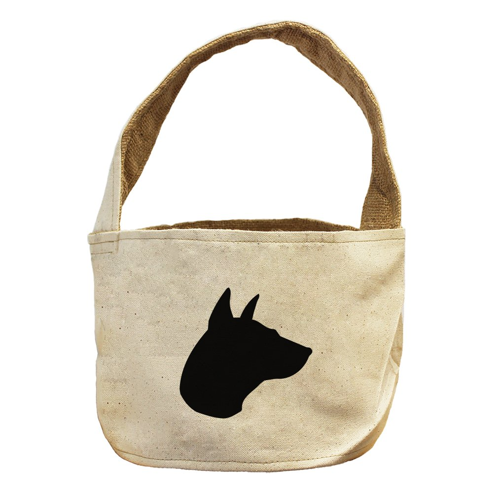 Style in Print Canvas And Burlap Storage Basket Thai Ridgeback Silhouette By by Style in Print