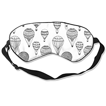 Contoured Sleep Mask, Hot Air Balloons Blackout Eye Mask for Sleeping with Adjustable Strap,