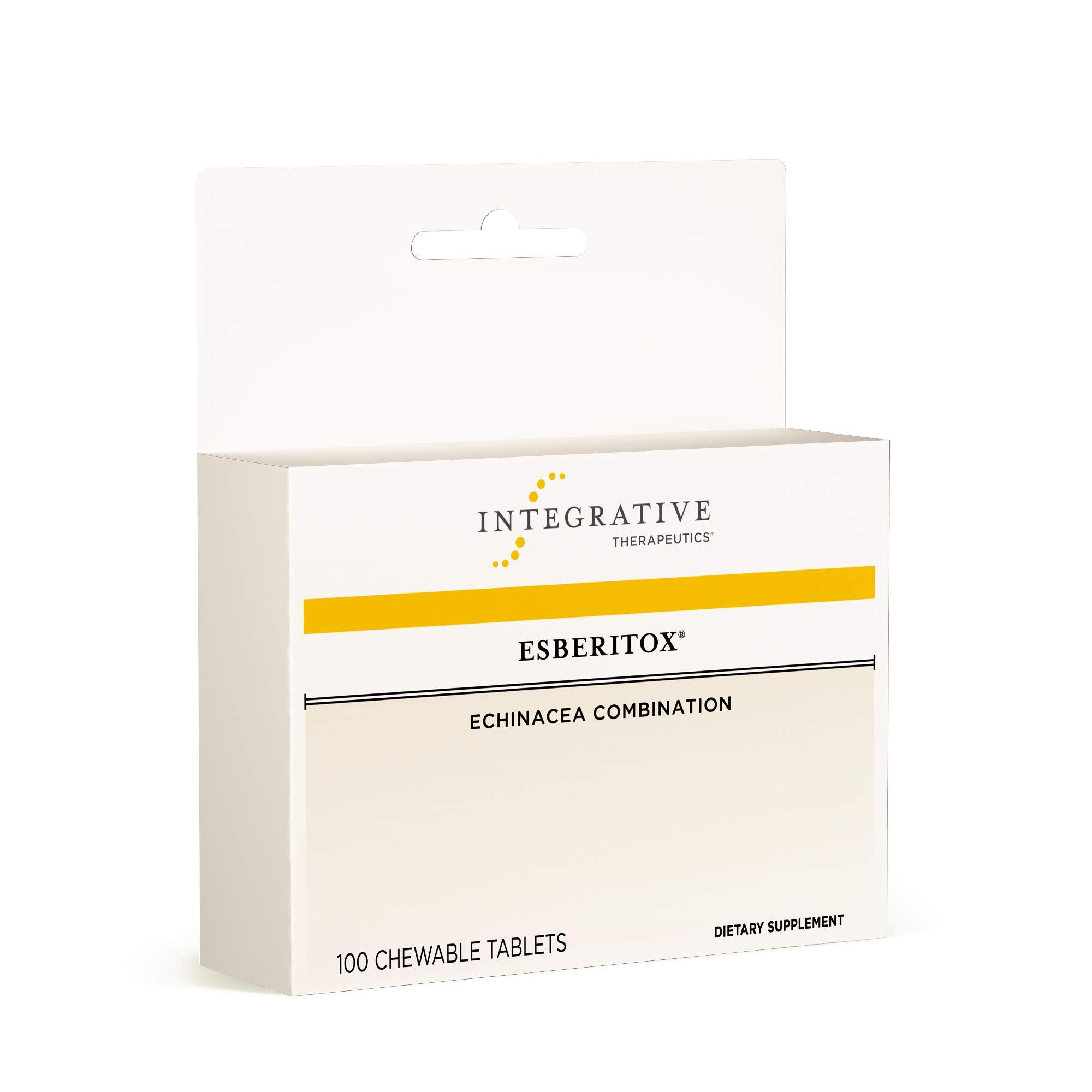 Integrative Therapeutics - Esberitox - Immune-Supporting Combination of Echinacea, Baptisia, and Thuja - 100 Chewable Tablets