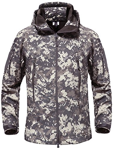 capucha Para abrigo con Chaqueta Impermeable el aire al Hombres senderismo libre camping caza Softshell ACU TACVASEN pesca vAX1wU