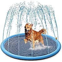 HBDY Splash Water Opblaasbare Speelmat Set Zomer Spray Water Speelgoed splash pad voor kinderen of honden Pet Pool…