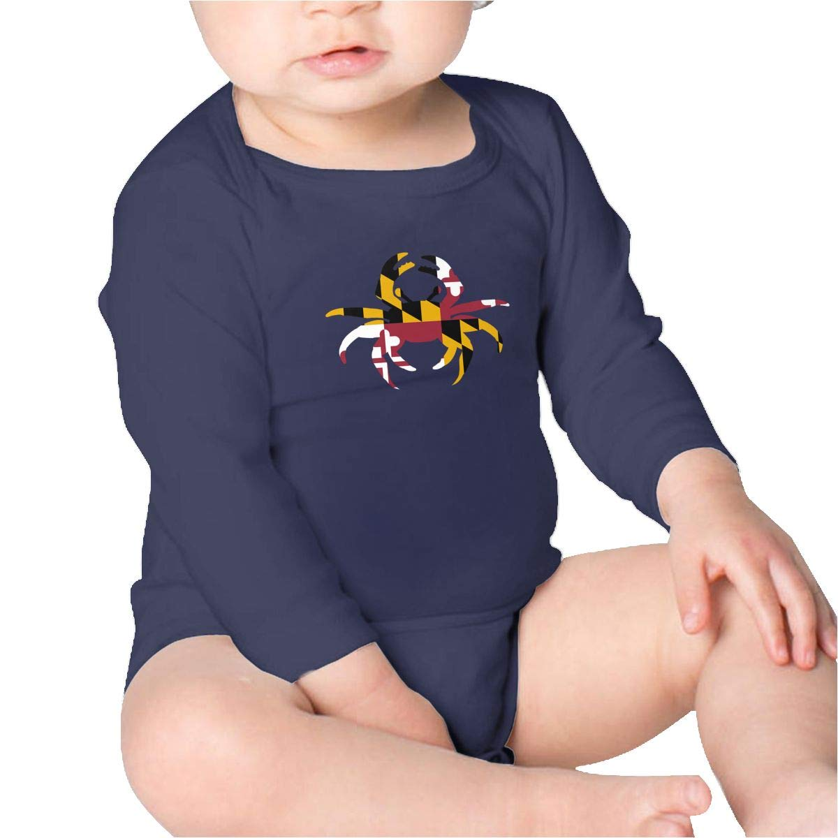 Pikaqiuleilei Maryland Crab Baby Cotton,Long Sleeve Infantile Suit