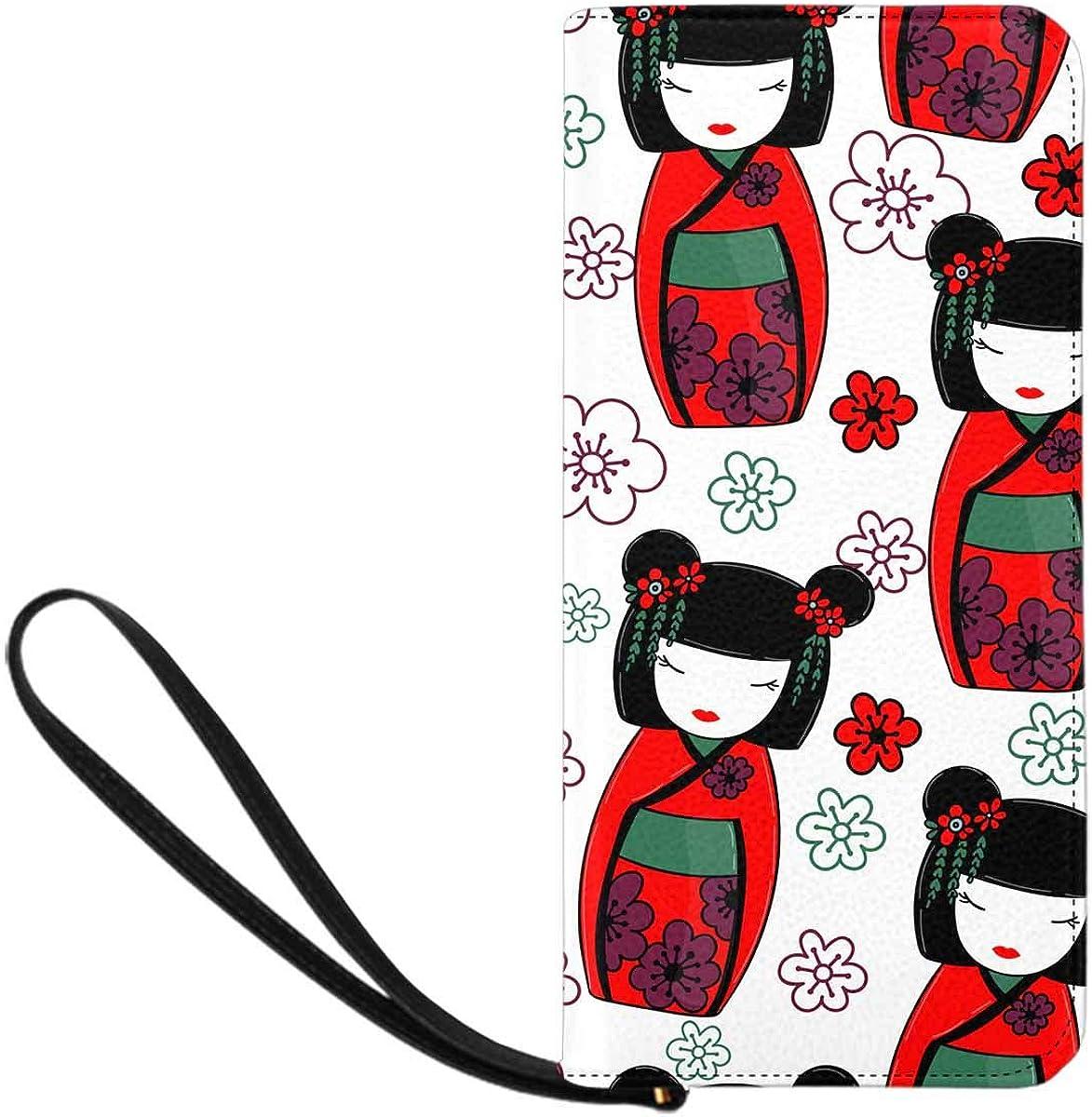 InterestPrint Womens Lake Autumn Colors Clutch Purse Card Holder Organizer Ladies Purse