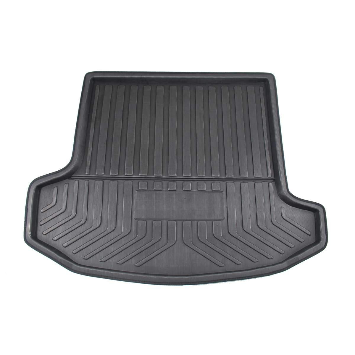 RASOME Car Cargo Liner Boot Tray Cubierta del Maletero Trasero Matt Mat Floor Carpet Kick Pad para Skoda Kodiaq 5//7 Seat Seater 2017 2018 2019