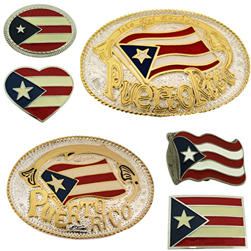12 Pieces Puerto Rico Us Flag Belt Buckle Nation Country Wholesale Lot Closeout