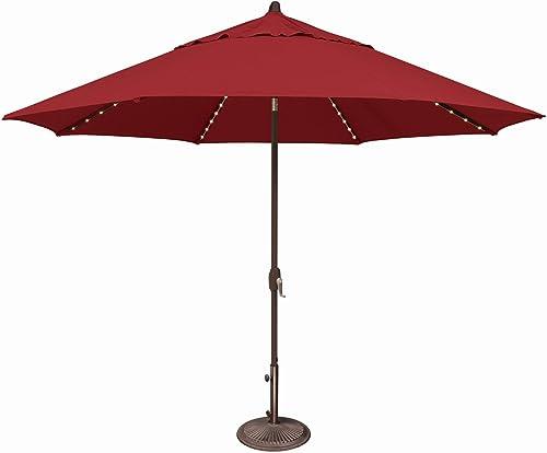 SimplyShade Lanai Pro Patio Umbrella in Red