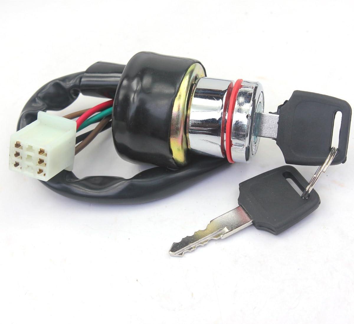 Wingsmoto Ignition Key Switch 6 Wires 90cc 125cc 150cc Gokart ATV Dirt Pit Bike