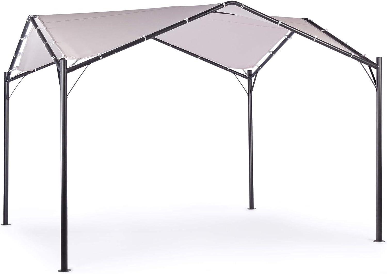 ARREDinITALY - Cenador Cuadrado de 3, 5 x 3, 5 m Antracita con ...