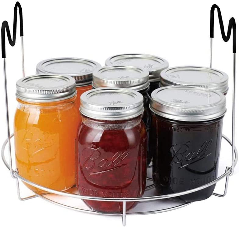 Whewer Stainless Steel Canning Rack Canning Jar Rack Holds 8 Pint or 7 Quart Jars