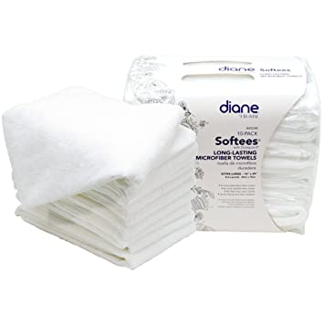 30 WHITE Softees Salon Spa Microfiber Absorbent Cloth Towels Stain Resistant