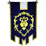 World of Warcraft Horde Alliance Badge Banner Flag Orc Emblem Poster (Blue)