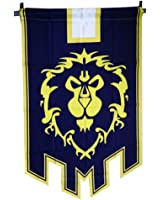 World of Warcraft Horde Alliance Badge Banner Flag Orc Emblem Poster (Blue)